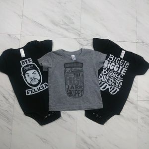American Apparel Shirt and 2 Onesie Set. 6-12mnths
